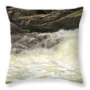 Foamy Cascade Throw Pillow