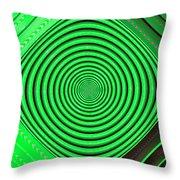 Focus On Green Throw Pillow