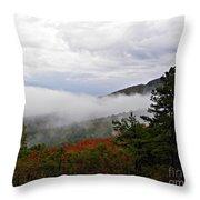 Fog And Foliage Throw Pillow