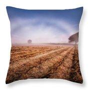 Fog Bow Throw Pillow