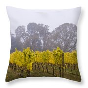 Fog In The Fall Throw Pillow