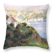 Fog On Guernsey Throw Pillow