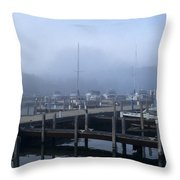 Foggy Morning In Door County Throw Pillow