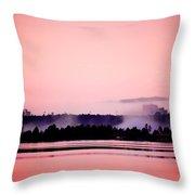 Foggy Pink Morning Throw Pillow