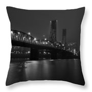 Foggy Portland Night Throw Pillow