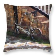Folding Bicycle Antigua Throw Pillow