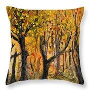 Foliage Throw Pillow
