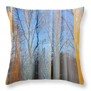 Foliage Fantasy 4 Throw Pillow