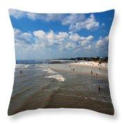 Folly Beach Charleston South Carolina Throw Pillow
