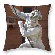 Fontana Del Nettuno. Neptune Fountain. Piazza Navona. Rome Throw Pillow