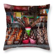 Food - Candy - Chocolate Covered Everything Throw Pillow