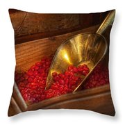 Food - Candy - Hot Cinnamon Candies  Throw Pillow