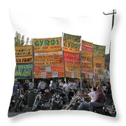 Food Selection In Sturgis Throw Pillow