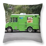 Food Trucks Throw Pillow