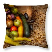 Food - Vegetables - Very Early Harvest Throw Pillow