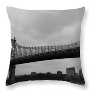 Foot Traffic On The Bridge Only Throw Pillow