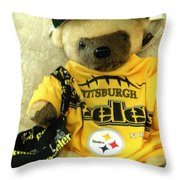 Football Bear Throw Pillow