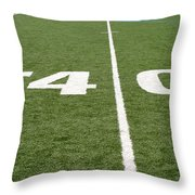 Football Field Forty Throw Pillow