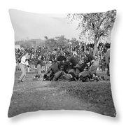 Football Game, 1912 Throw Pillow