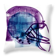 Football Helmet X-ray Throw Pillow