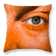 Football Scars Throw Pillow by Semmick Photo
