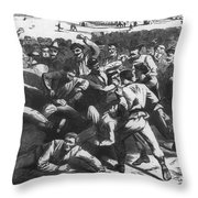 Football: Soldiers, 1865 Throw Pillow