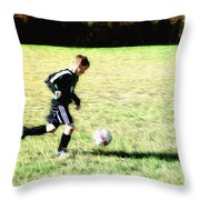 Footballer Throw Pillow