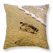 Footprint Throw Pillow