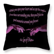 For Love Of Mathew Throw Pillow