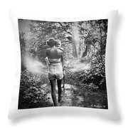 For Thou Art With Me Throw Pillow
