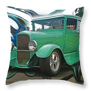 Ford Abstract Throw Pillow