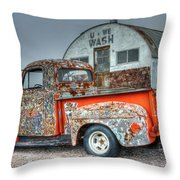 Ford At The U We Wash Throw Pillow