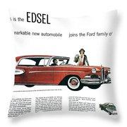 Ford Cars: Edsel, 1957 Throw Pillow