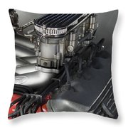 Ford Engine Throw Pillow