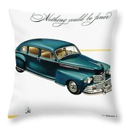 Ford Lincoln Ad, 1946 Throw Pillow