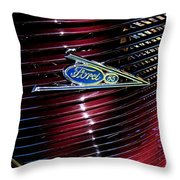 Ford Model 85 Emblem Throw Pillow