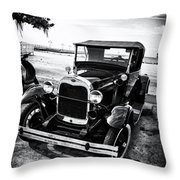 Ford Model T Film Noir Throw Pillow by Bill Cannon