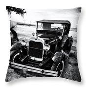 Ford Model T Film Noir Throw Pillow