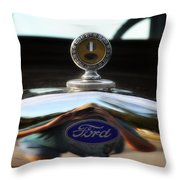 Ford Model T Hood Ornament Throw Pillow