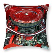 Ford Mustang Engine Bay Throw Pillow