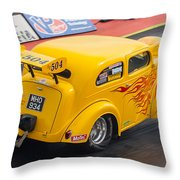 Ford Popular Drag Racer Throw Pillow