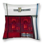 Ford Shelby Cobra Gt 500 Taillight Throw Pillow