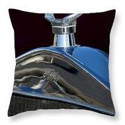 Ford Streetrod Hood Ornament Throw Pillow
