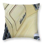 Ford Thunderbird Head Light Throw Pillow