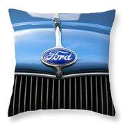 Ford Truck Emblem Throw Pillow