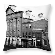 Fords Theater - After Lincolns Assasination - 1865 Throw Pillow