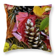 Forest Floor Portrait Throw Pillow