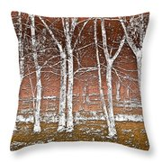 Forest Ghosts Throw Pillow