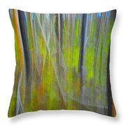 Forest Impression Photographic Image Yellowstone No. 2135. Throw Pillow
