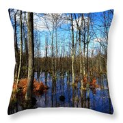 Forest In Colorful Fall Throw Pillow